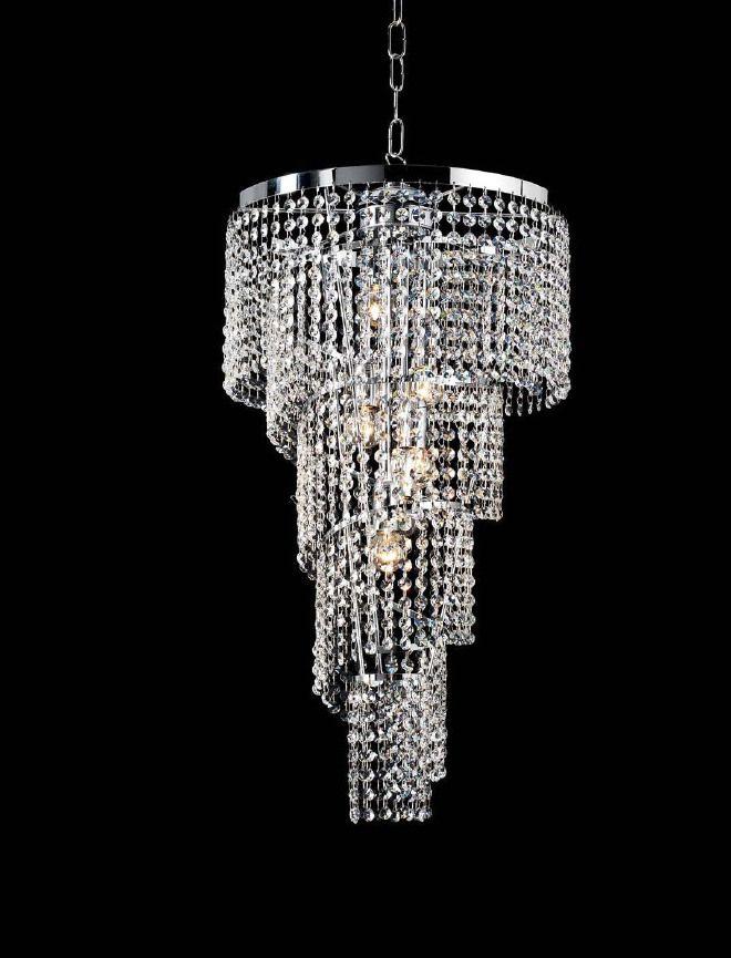 LAMPADARIO CRISTALLO 8 LUCI collezione SPIRALE | Idee per l ...