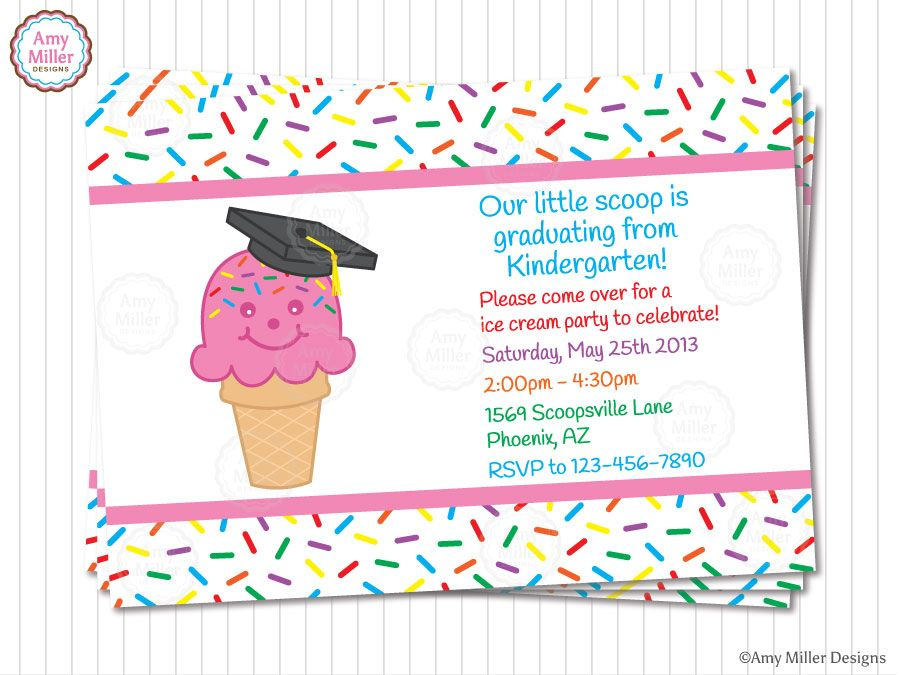 Kindergarten and Preschool Graduation Invitations Kindergarten