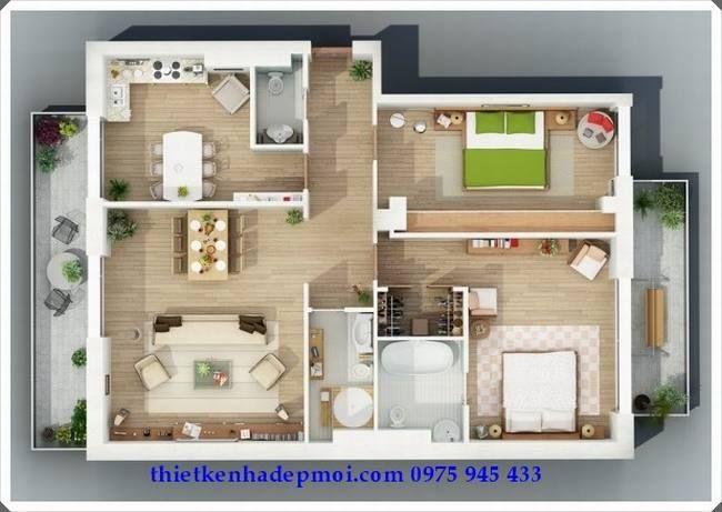 bản vẽ nhà nông thôn cấp 4 - Tìm với Google Architecture - Apartment House Plans