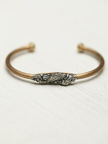 $68 Free People Pyrite and Stones Cuff