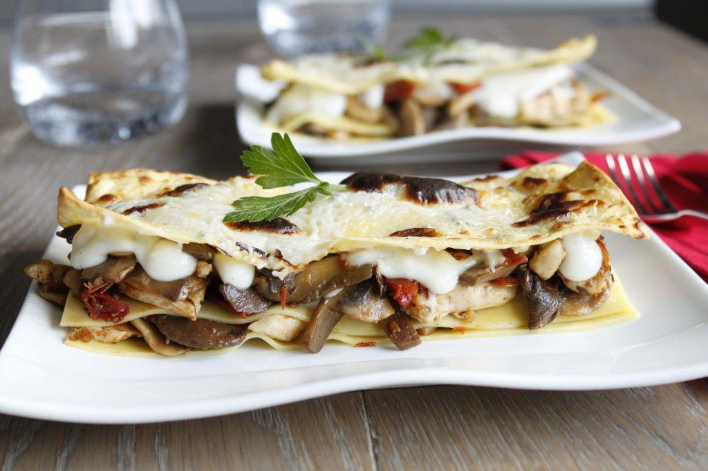 Recette : lasagne poulet champignons gorgonzola ...