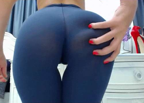 Women taking off yoga pants