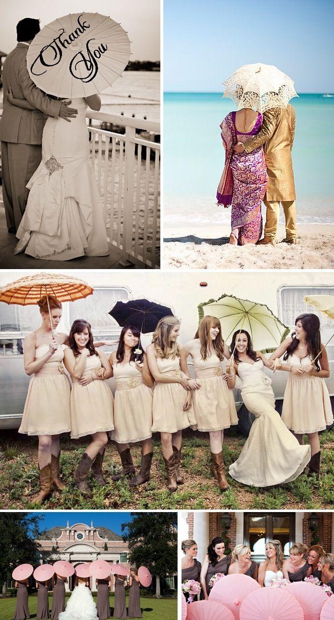 April Showers? Bring It! bridal accessories bride groom wedding parasol umbrella