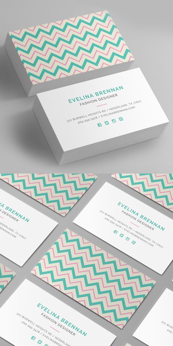chevron business card