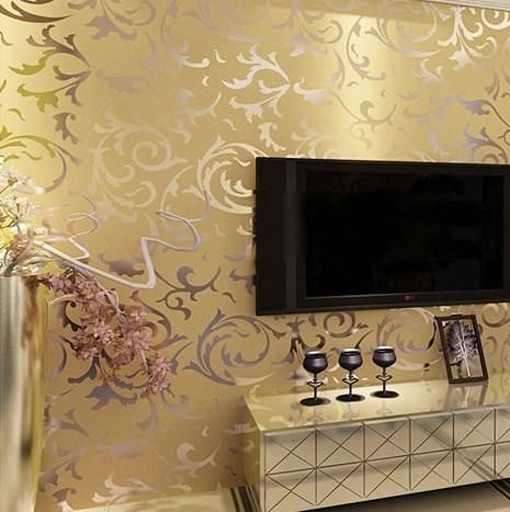 Luxury Velvet Victorian Wallpaper Background Wall Classic Papers Home Decor For Living Room Embossed Damask Wide Mobile