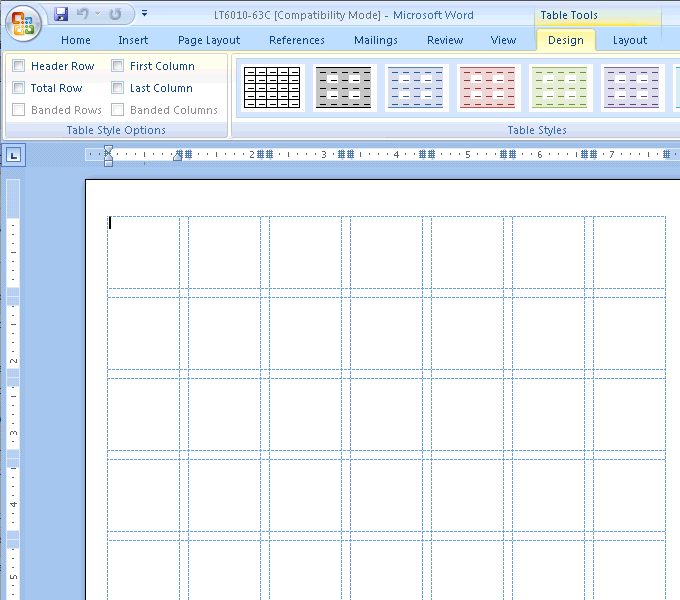 Template3 Viewing Gridlines in Word Label Templates | Document ...