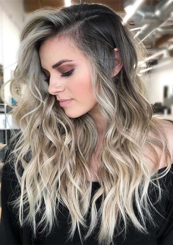 Photo of Fresh Blonde Balayage Long Wavy Hairstyles for 2019 | Stylesmod