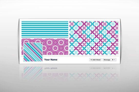 Premade Facebook Timeline Cover Instant Download DIY Template Blank Banner For