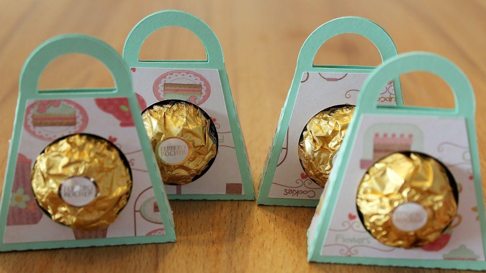 Free Studio File For Ferrero Rocher Single Chocolate Box Gift Packaging Handbag Free Boxes