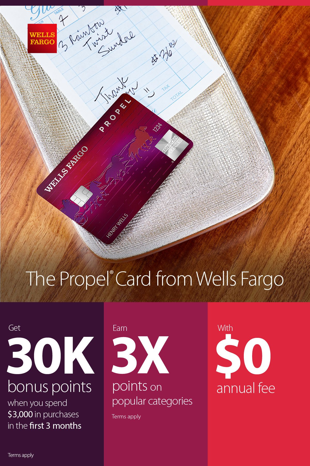 Our best rewards card with $14 annual fee. Terms apply.  Prepaid