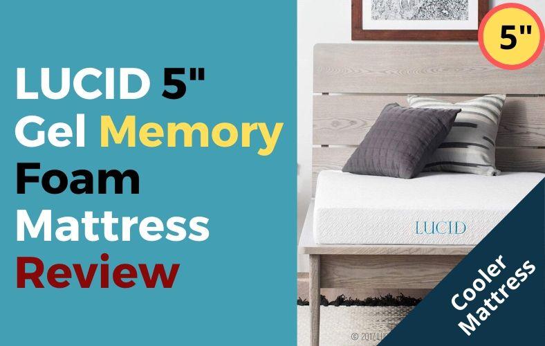 Lucid 5 Inch Gel Memory Foam Mattress Review Gel Memory Foam