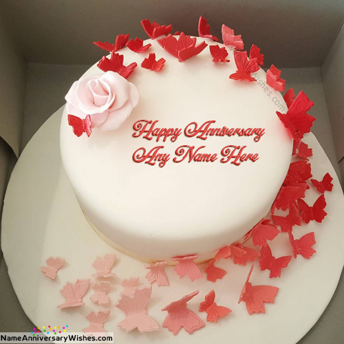 Creative Marriage Anniversary Cakes With Name Anniversaries