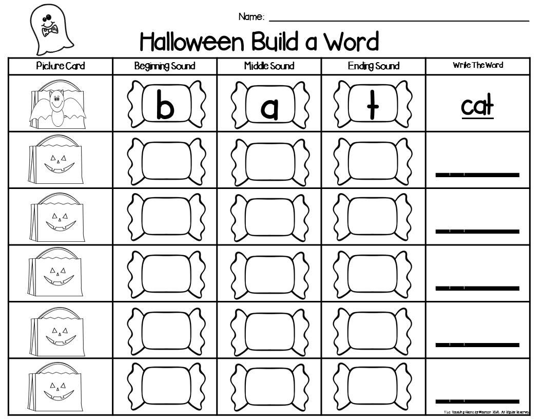 Halloween Build A Word Phonics Game With Images