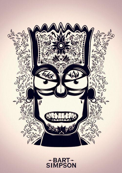 """Devil Simpsons"" Bart Simpson - illustration series by Juart Little."