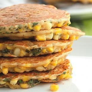 Corn & Basil Cakes Recipe