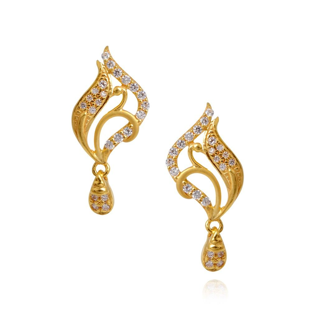 Oriana | Beautiful Fancy Peacock Earring with Hanging Drops | GRT ...