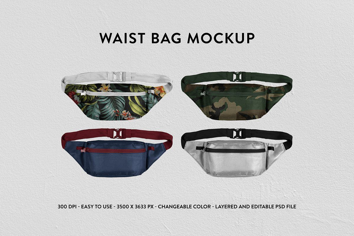 Download Leather Wallet Mockup Psd Mockup Template Bag Mockup Waist Bag