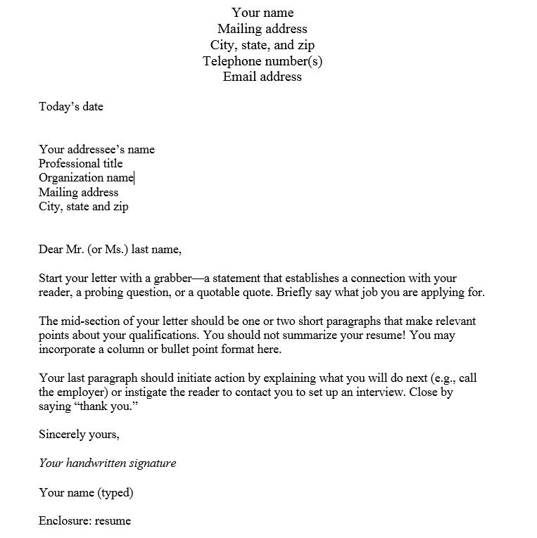 Cover Letter Template | Cover Letter | Pinterest | Cover letter ...