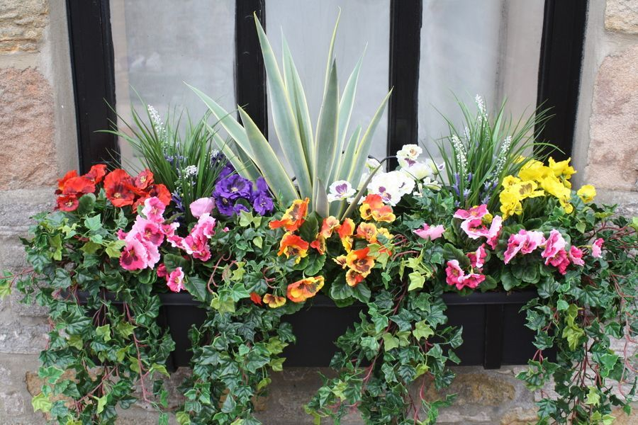 Plantart Artificial Pansy Window Boxes Artificial Plants Window