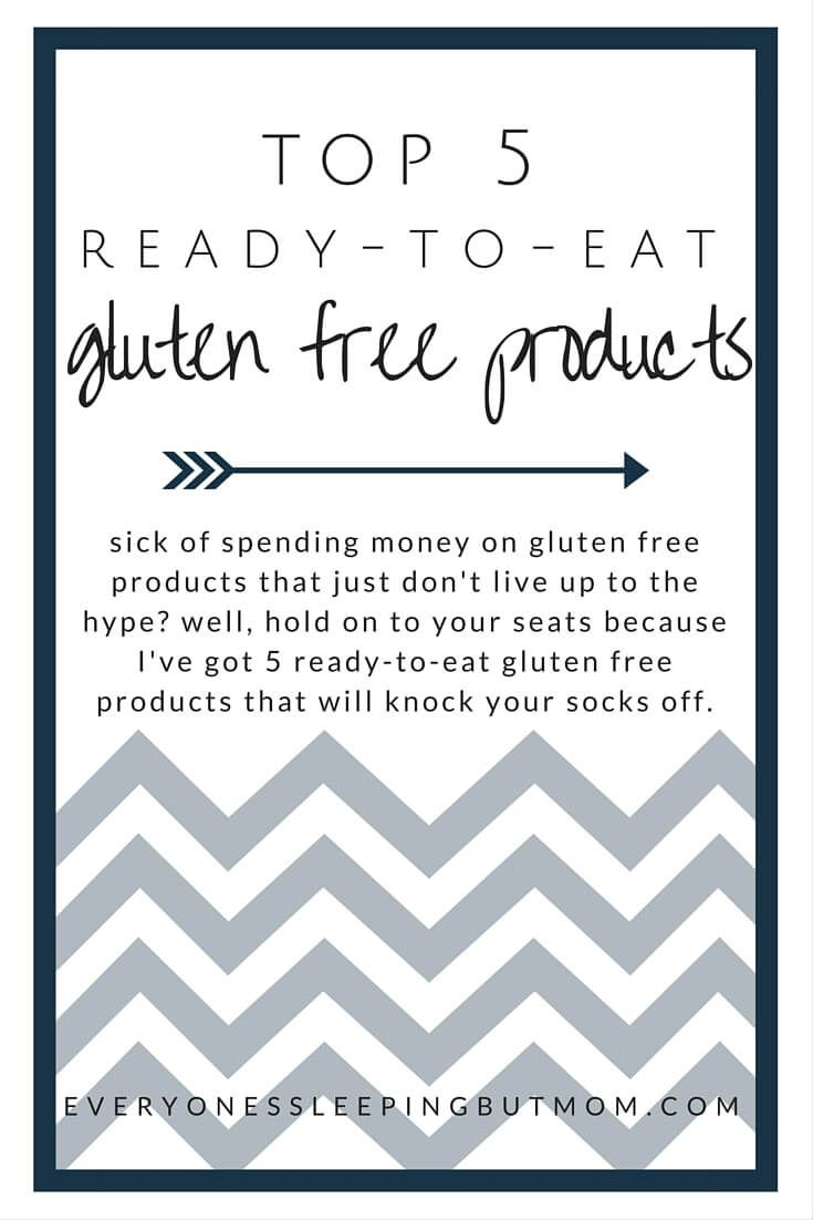 great gluten free products that actually taste good and require zero to very little preperation