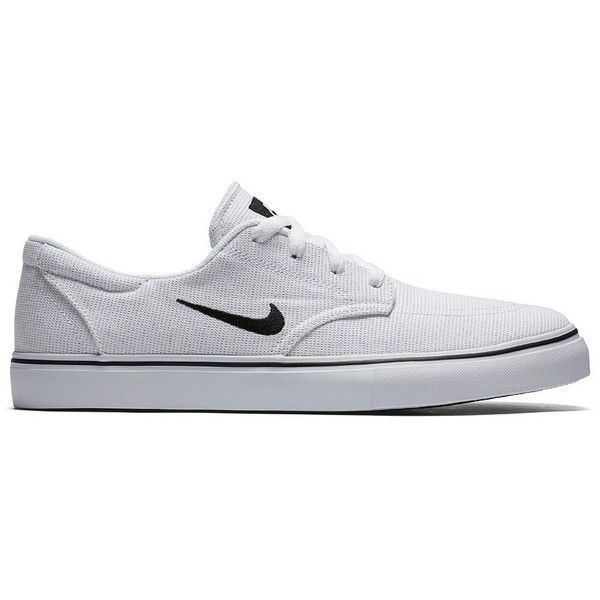 Nike SB Clutch Men's Skate Shoes ($60) ❤ liked on Polyvore featuring men's fashion, men's shoes, men's sneakers, natural, mens lace up shoes, mens shoes, mens black shoes, mens black skate shoes and nike mens sneakers