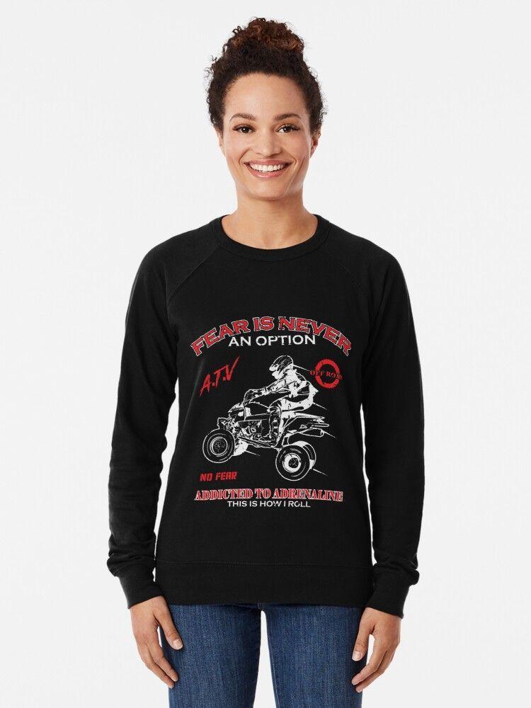 Quad Offroad #nikolausgeschenkmann Fear is never an Option Tolles Design für alle Quadfahrer! Perfekte Geschenkidee für jeden Adrenalinjunkie zum Geburtstag, Nikolaus oder Weihnachten! Tolles Geschenk mit Quad Motiv für Rennfahrer. Einzigartig für ATV Besitzer die gerne Offroad Tour fahren. Cooles und Lustiges ATV Quad Offroad T-Shirt, ideales Geschenk für Damen, Herren, Männer oder Frauen, Sohn oder Vater. #quad #atv #quadtour #quadbike #4x4 #motocross #offroad #atvlife #quads #nikolausgeschenkmann