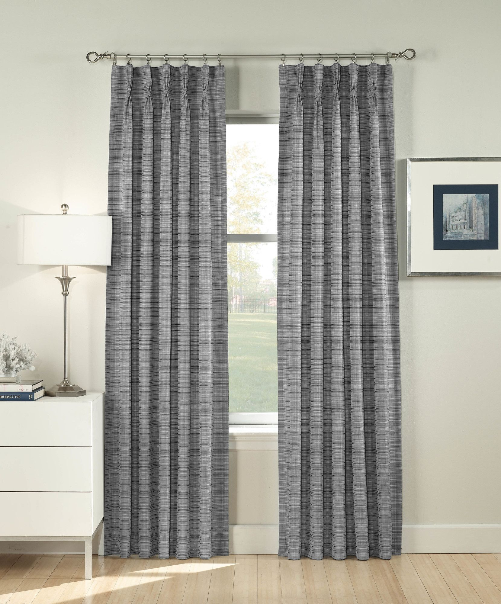 Glenn Single Curtain Panel | Curtain panels and Curtains for Single Pinch Pleat Curtains  51ane
