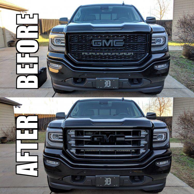 What About Black Silverado Sierra Photos Page 104 2014 2018 Chevy Silverado G Gmc Truck Accessories Gmc