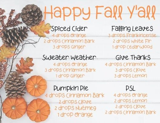 Happy Fall Y'all Diffuser Blend Postcard #winterdiffuserblends