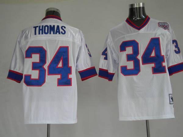 8518e5676 ... amazon mitchell and ness buffalo bills 34 thurman thomas white stitched  throwback nfl jersey 22.99 f23f2
