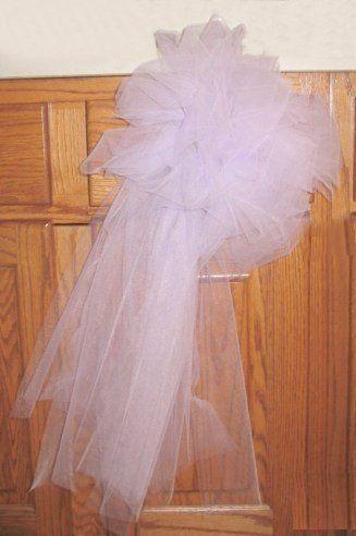 Tulle Pew Bows - Church Wedding Decorations | WEDDING \