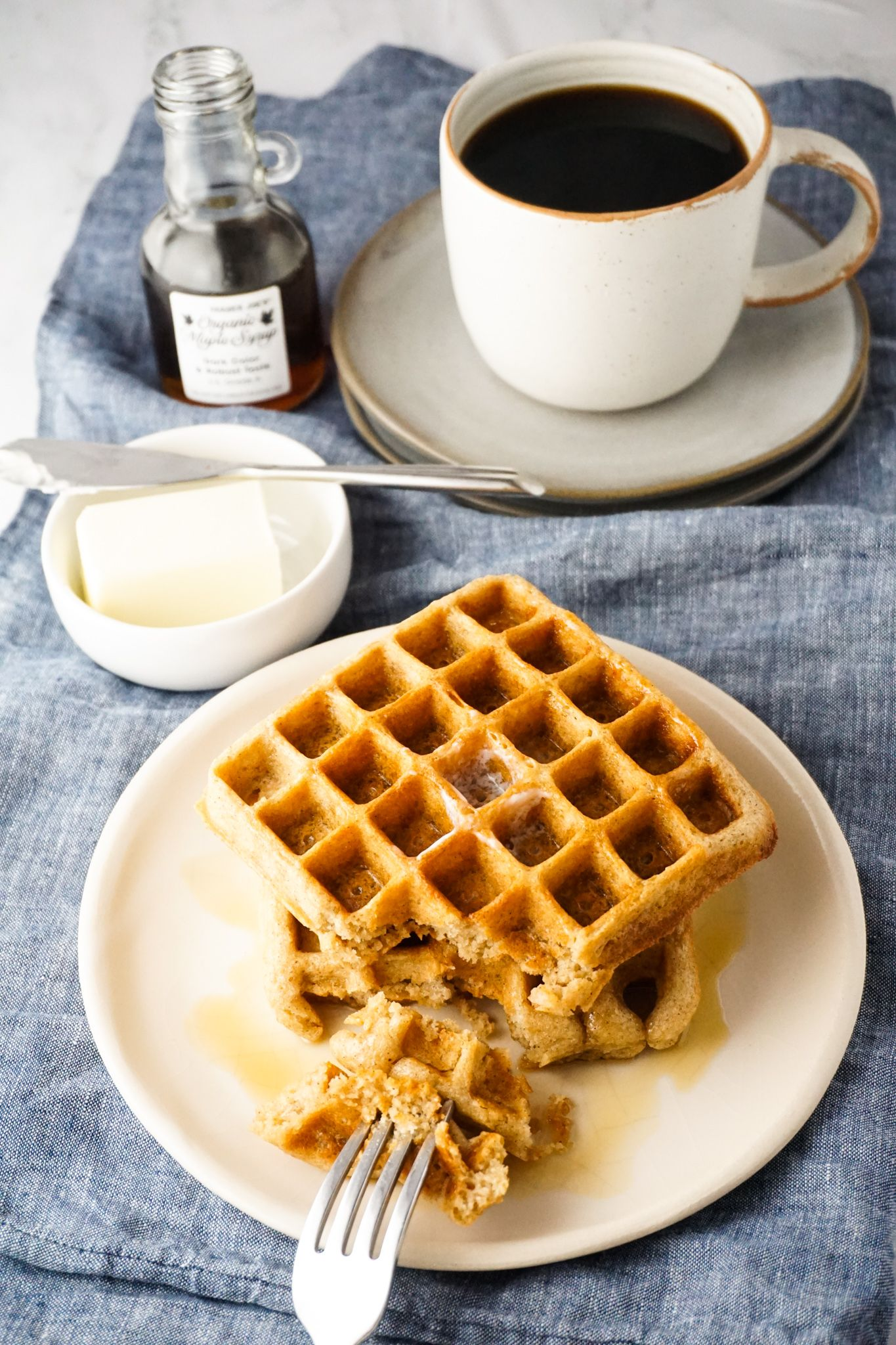 Classic Whole Wheat Buttermilk Waffles Hungry Haley In 2020 Buttermilk Waffles Waffles Whole Wheat Waffles
