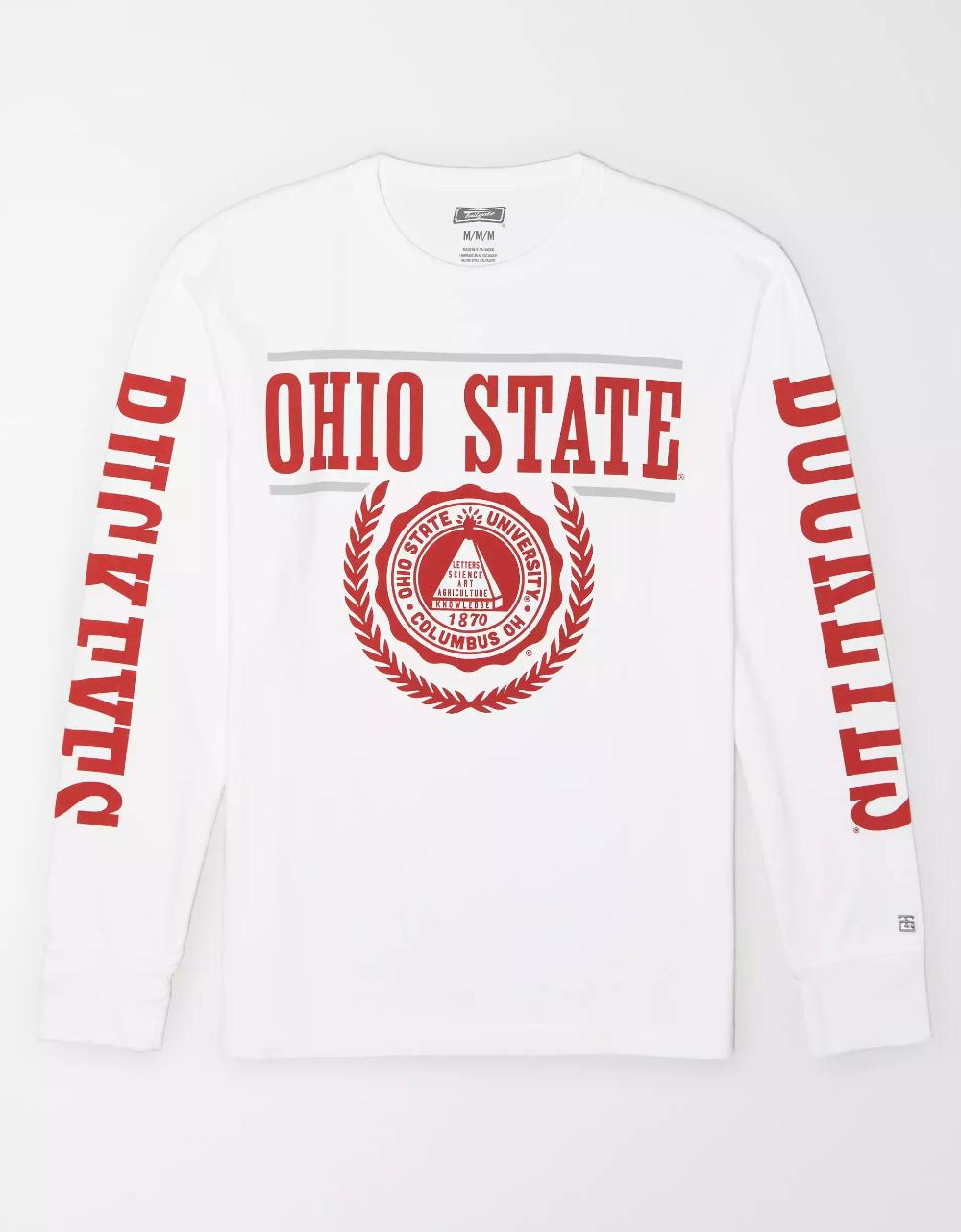 Ohio State Buckeyes Mens Grey School Name Screened Crew Sweatshirt By J America Sweatshirts Ohio State Sweatshirt Crew Sweatshirts [ 1000 x 870 Pixel ]