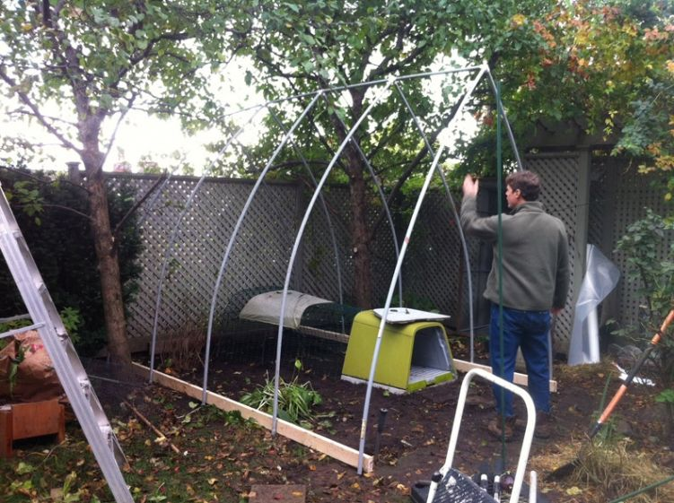 Building a PVC hoop house Cold frame, Build a greenhouse