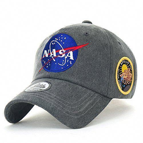 917b2a1671b ililily NASA Meatball Logo Embroidery Baseball Cap Apollo... https   www
