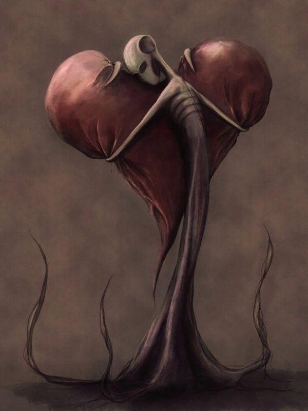 Au Coeur De L Etrange : coeur, etrange, Black, Picture, Arts,, Dessin, Coeur,, Amour