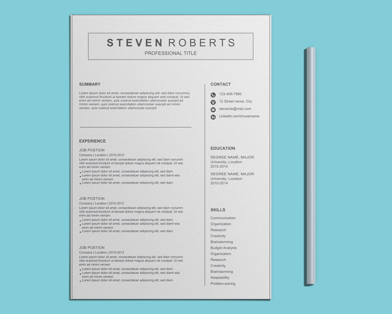4 Curriculum Vitae Cv 1 Page Et 2 Pages Et 4 Lettres De Etsy Curriculum Vitae Curriculum Lettre De Motivation