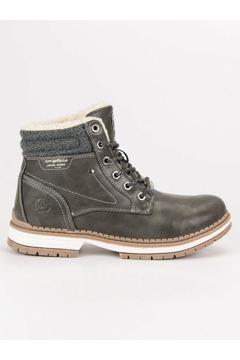 Teplé zimné topánky trapery sivé  bfe194c2b23