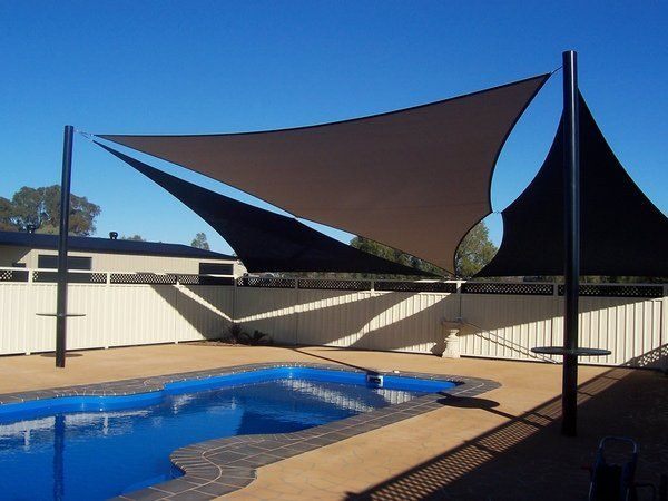 Modern Patio Pool Shade Sail Awnings Sun Deck Garden Fence Privacy Protection