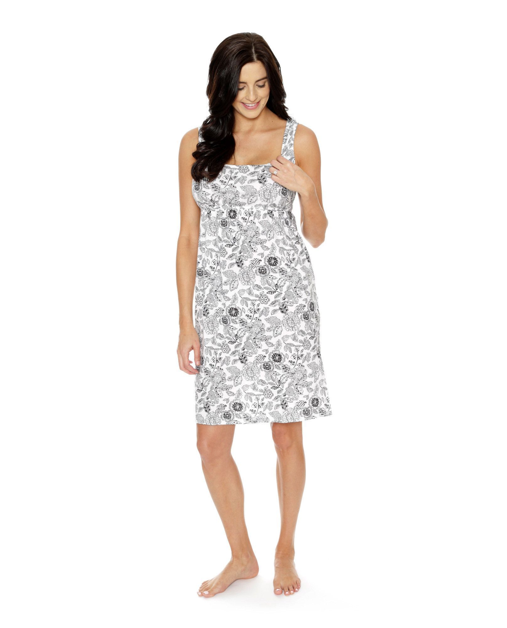 This pretty maternitynursing nightdress is designed to make you this pretty maternitynursing nightdress is designed to make you feel gorgeous yet comfortable ombrellifo Image collections