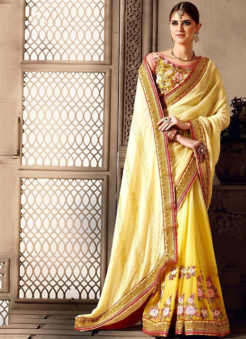 Designer Saris online shopping in USA UK CanadaBuy Miraculous Beige