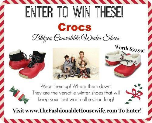 Day 8 Giveaway – Crocs Blitzen Convertible Winter Shoes worth $59.99