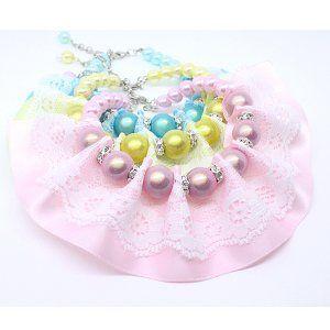 OOHLALA Lace Ribbon Raffle Front Swarovski Pearl Pet | http://www.cybermarket24.com/oohlala-lace-ribbon-raffle-front-swarovski-pearl-pet/