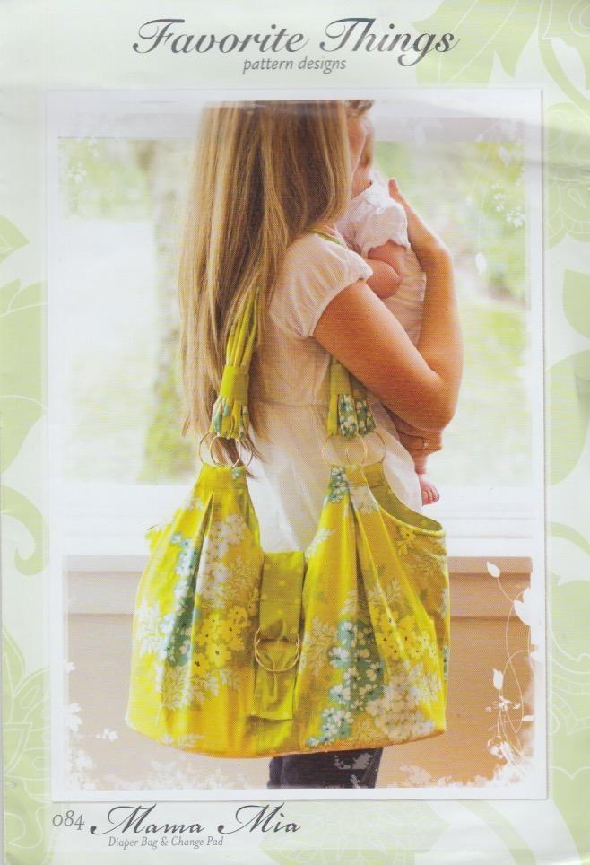 Mama Mia Diaper Bag & Change Pad Pattern