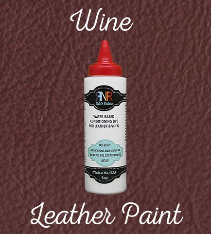 Red Wine Leather Furniture Finish Vinyl Dye By Rub N Restore Leather Restoration Leather Couch Repair Diy Leather Restoration