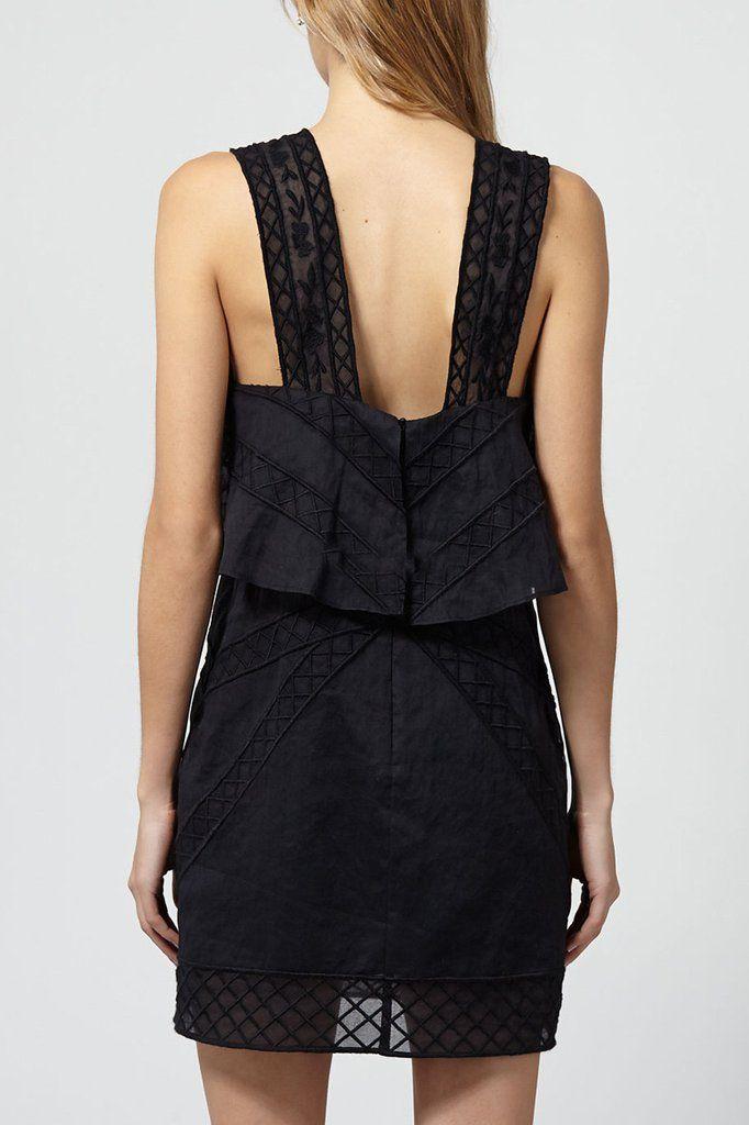 intropia ruffle dress