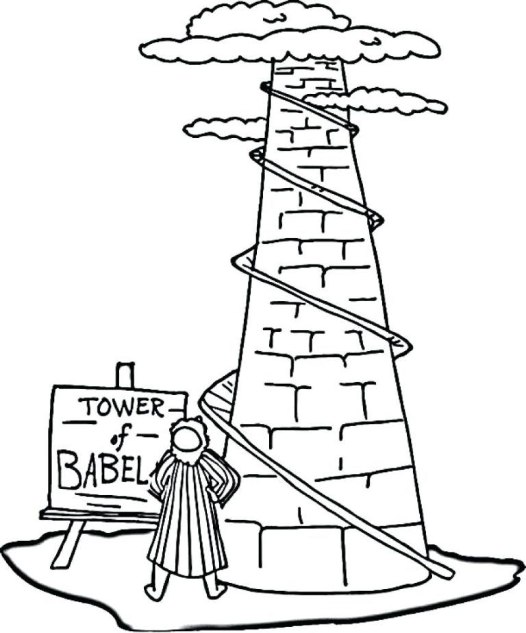 Tower Of Babel Coloring Pages Best Coloring Pages For Kids Coloring Pages For Kids Tower Of Babel Coloring Pages Inspirational