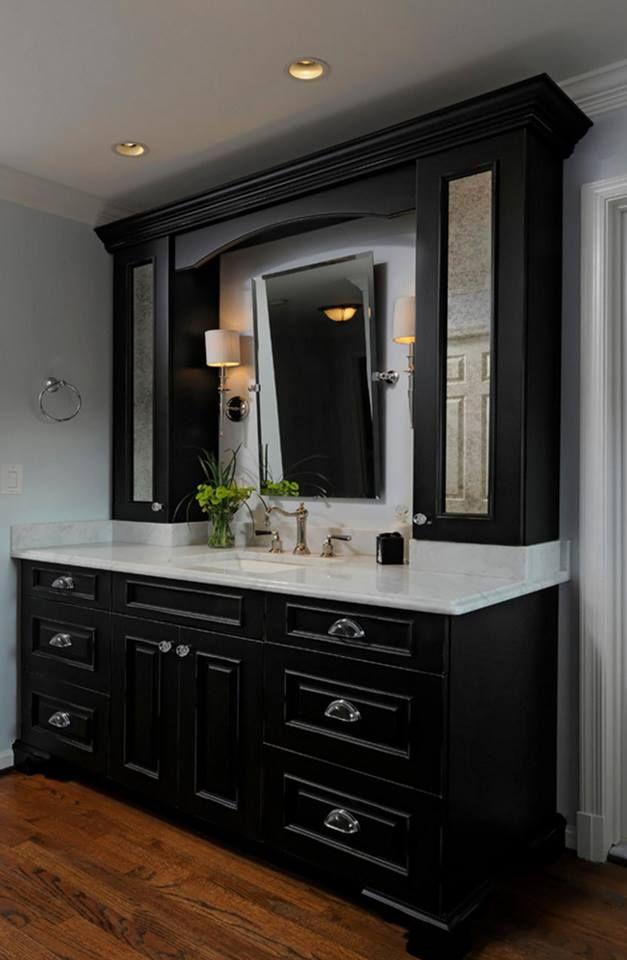 wood mode design a dream bathroom black cabinets bathroom rh pinterest com