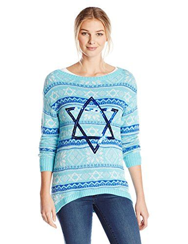 Isabella's Closet Women's Stars Of David Fair Isle Hanukkah ...