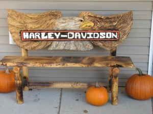 Fabulous One Of A Kind Harley Davidson Wooden Bench 500 Harley Uwap Interior Chair Design Uwaporg